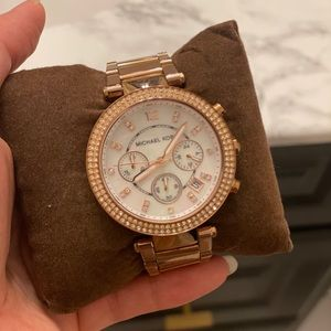 Michael Kors Rose Gold Studded Wrist Watch